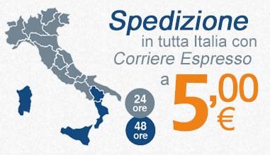 Spedizione in tutta Italia a 5,00 €