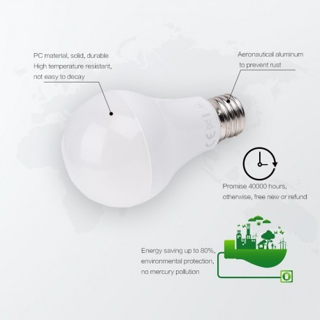 Modifica: Lampadina led full glass E27 8W 700LM 300° 60*118mm