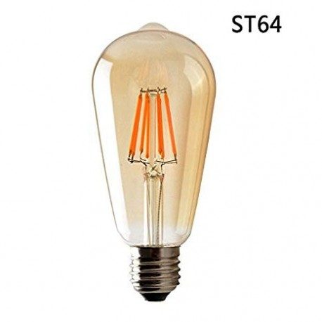 Lampadina E27 Ambra filamento ST64