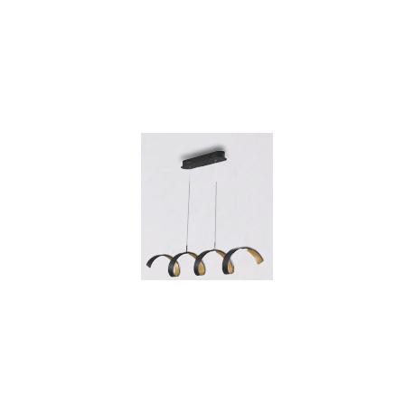 Sospensione led helix nero/oro 5X4W 1600LM