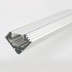 Profilo in alluminio Angolare 45° con copertura Matt Opaca - 2 Metri