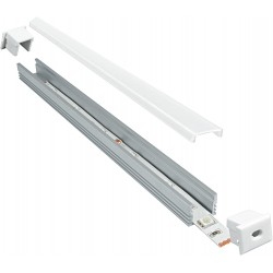 Profilo in alluminio slim con copertura Matt Opaca - 2 Metri
