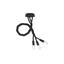 Plafoniera lover flessibile siliconato nero 3XE14