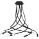 Plafoniera lover flessibile siliconato nero 6XE14