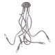 Plafoniera lover flessibile silliconato grigio tortora 6XE14