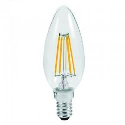 Lampadina led filamento candela  E14 4W 470LM