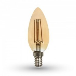 Lampadina ambra e14 4W filamento