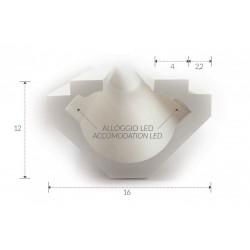 Cornice in gesso per profilo LED - Incasso