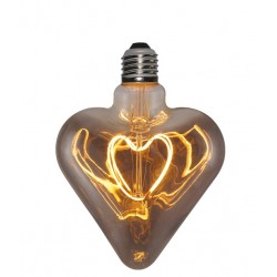 Lampadina Filament Curved Led Heart Smoky
