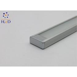 Profilo in alluminio Compact Piatto con copertura Matt Opaca - 2 Metri