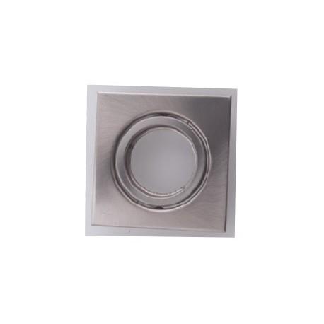 Portafaretto Quadrato orientabile da incasso per Gu10 nikel