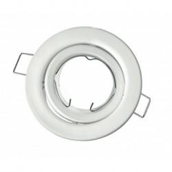 Portafaretto orientabile rotondo da incasso per Gu10 Bianco