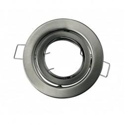 Portafaretto orientabile rotondo da incasso per Gu10 Nickel