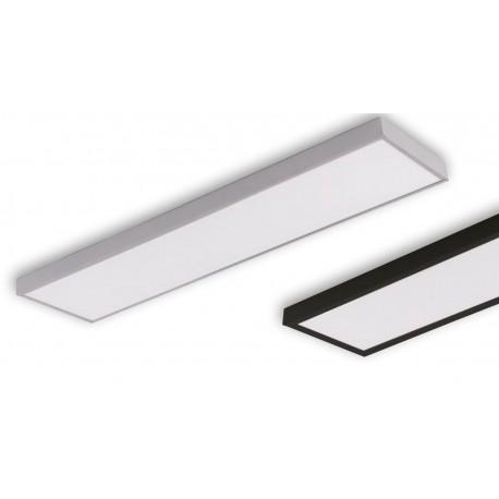 Supporto per montaggio pannelli led 120x30 in metallo laccato bianco