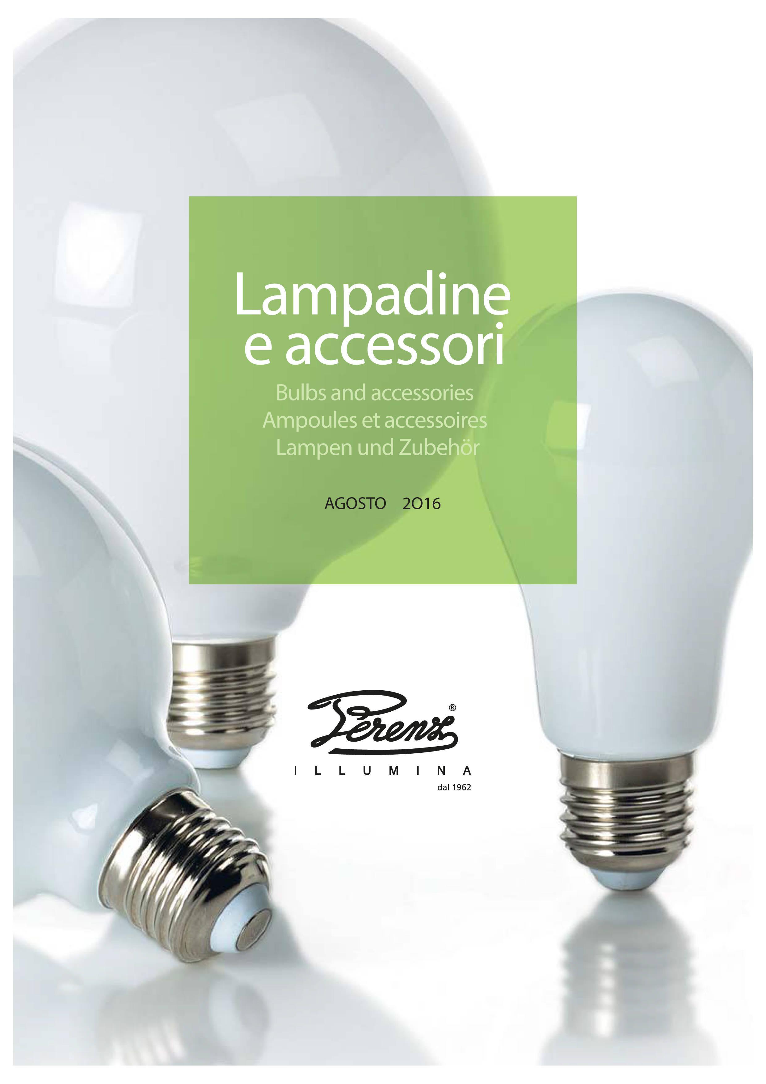 catalogo lampadine perenz